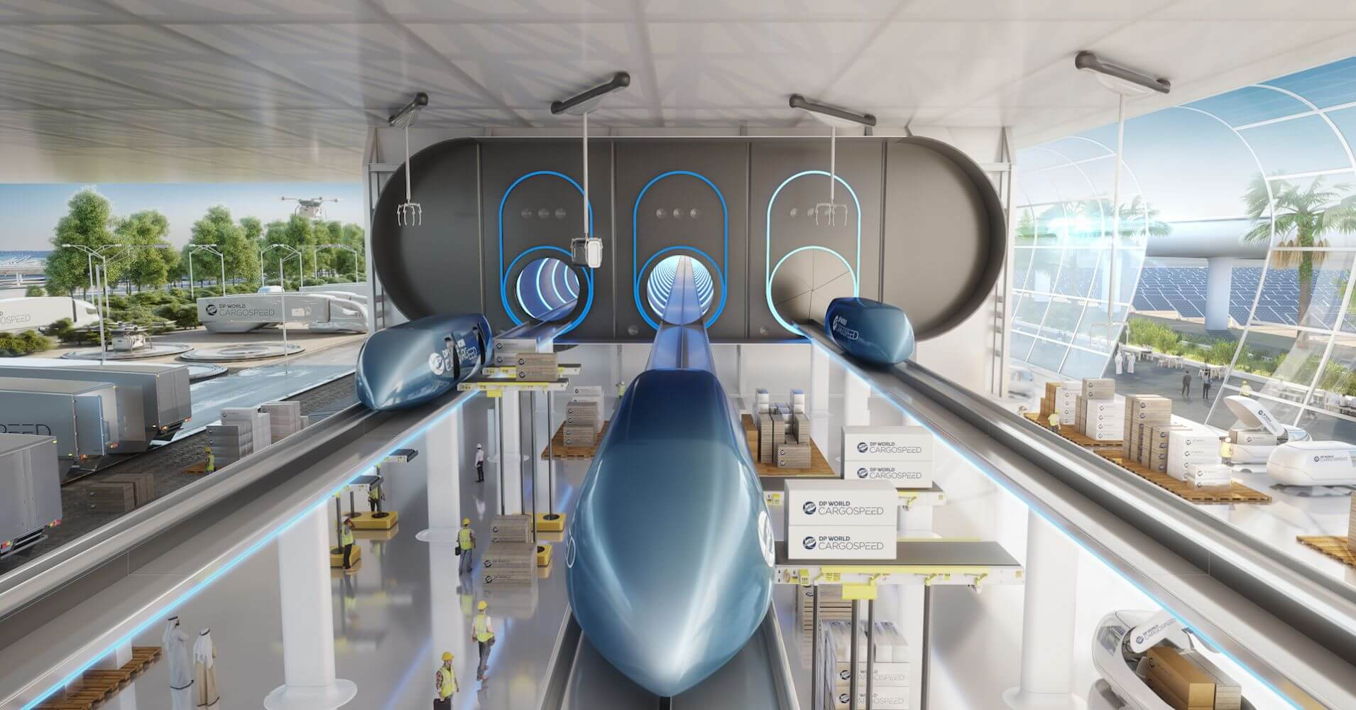 DP World Plans to Launch its First Hyperloop for Cargo in India